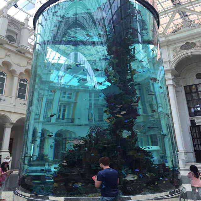 PG Large Customized Cylinder Acrylic Aquarium